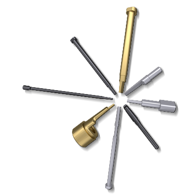 Core pins for cooling solution in die casting industry