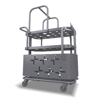 Trolley , furnace peripheral for immersion heaters, thermocouples and air heaters