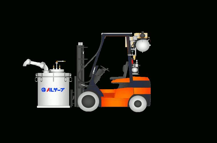 sistema de transporte de aluminio liquido a presión