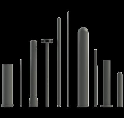 tubos de protección, tallos de desgasificación Ceral para industria de fundición