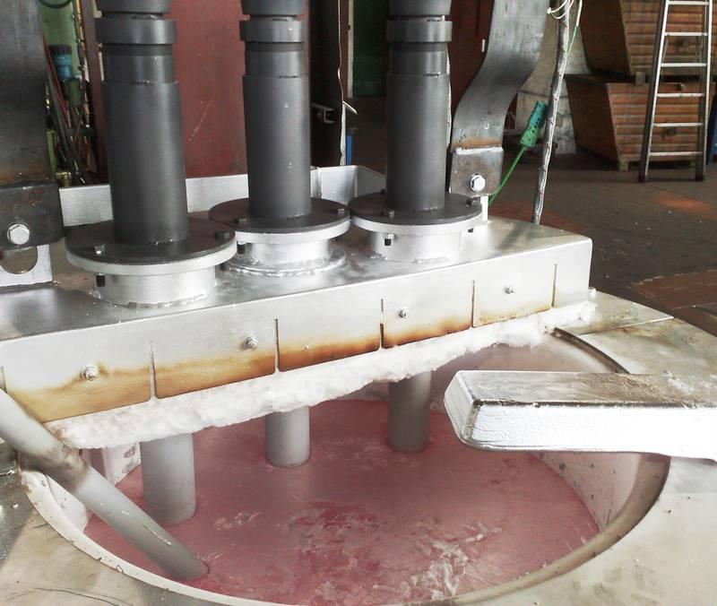 Thermoplongeur pour fonderie et usine de recyclage