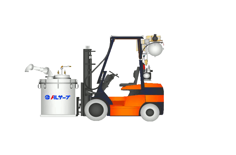 vacuum filling and pressure dosing system for molten aluminium Al Serve