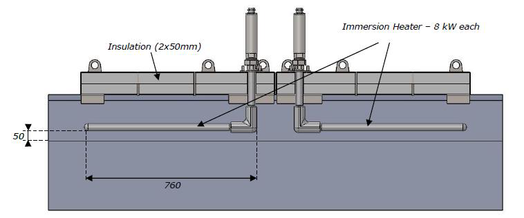 aluminium immersion heater study