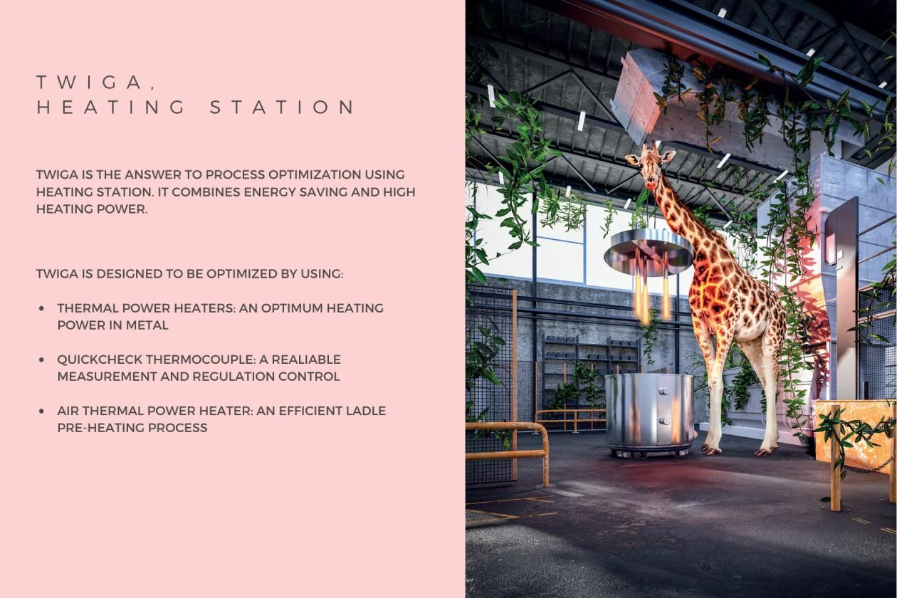 aluminium heating station