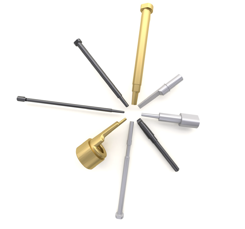 jet cooling core pins