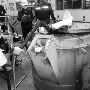 aluminium temperature maintaining solution for foundries, casthouse